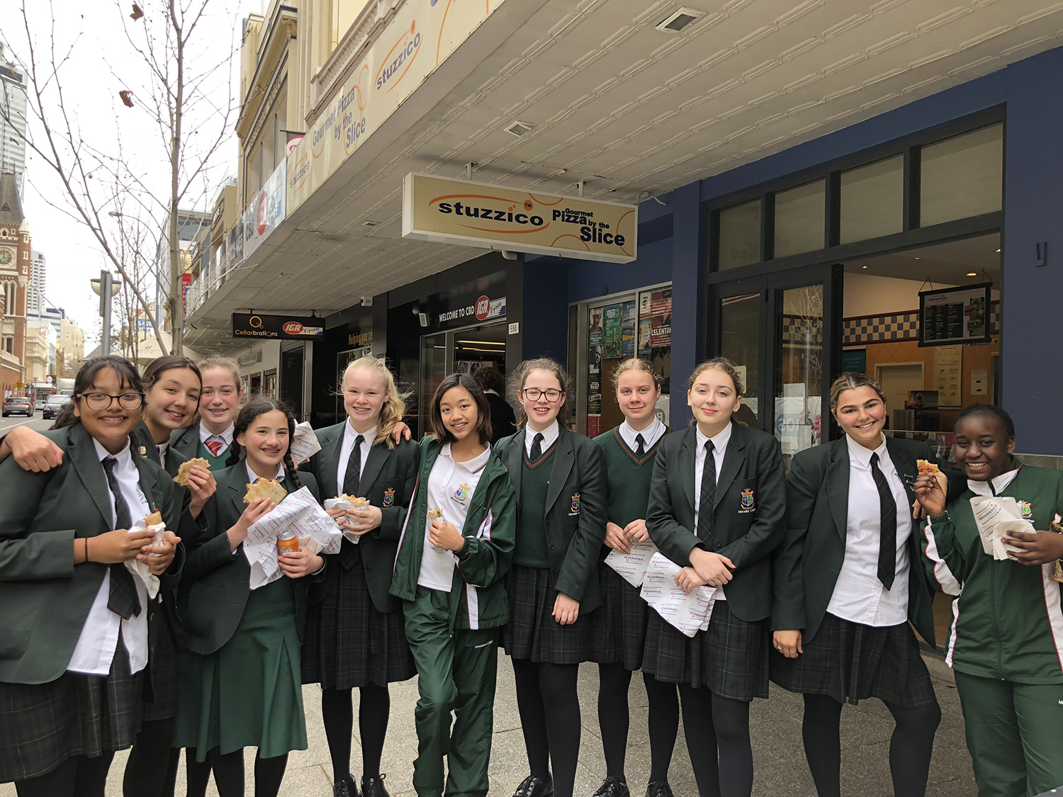 Business and Technology students at Mercedes College Perth