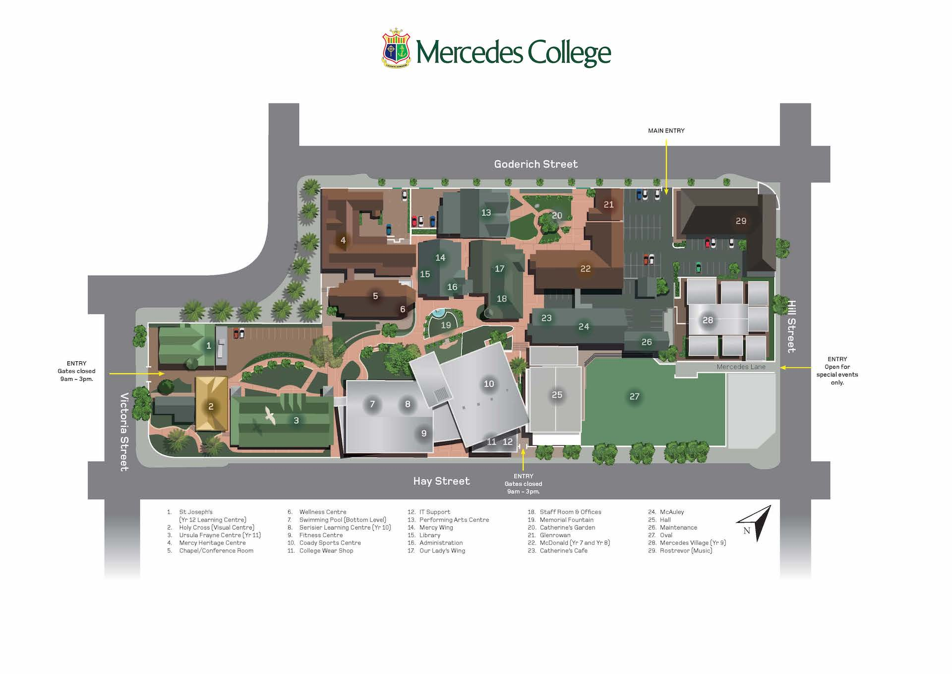 Mercedes College Map