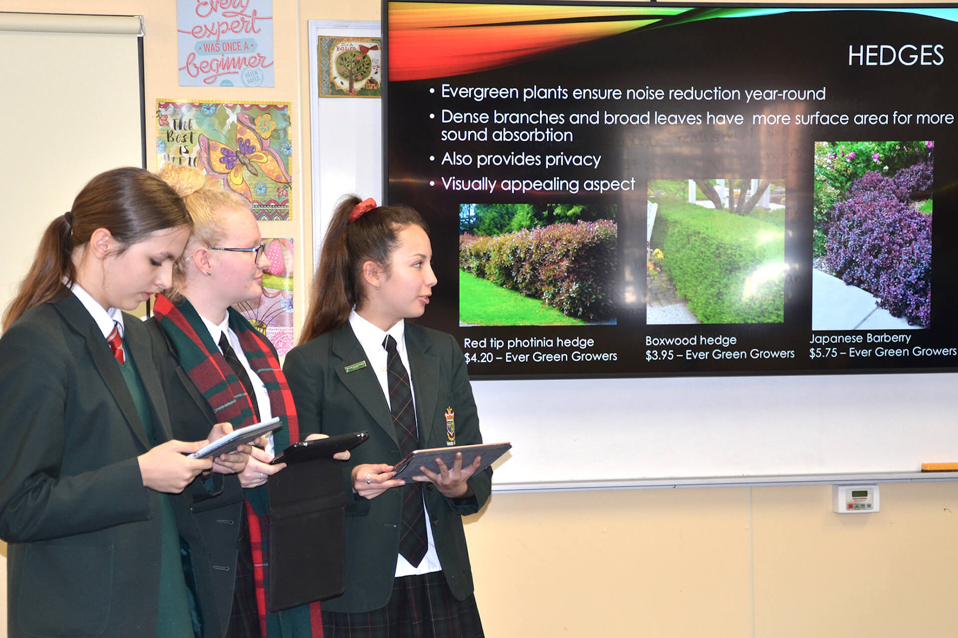 Three Year 9 ACE Science students